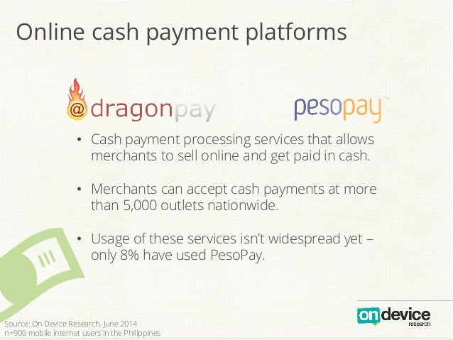Online cash payment platforms # • Cash payment processing services that allows merchants to sell online and get paid in c...