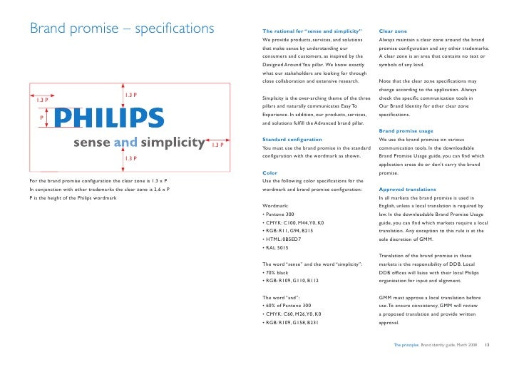 """Brand promise – specifications                                           The rational for """"sense and simplicity""""          ..."""