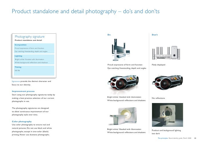 Product standalone and detail photography – do's and don'ts                                                     Do        ...