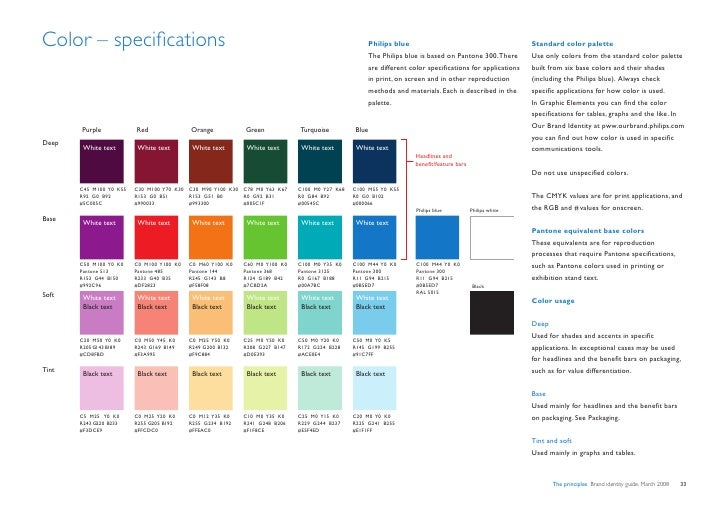 Color – specifications                                                                                Philips blue        ...