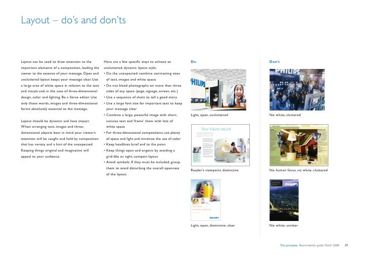 Layout – do's and don'ts                                                                                                  ...