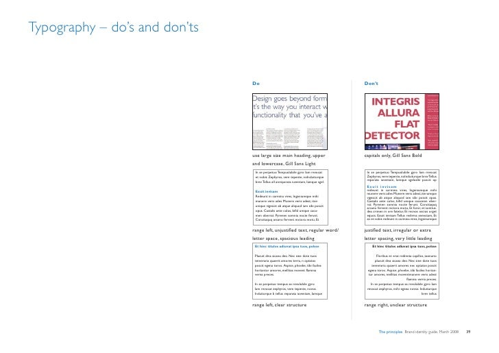 Typography – do's and don'ts                                  Do                                                   Don't  ...