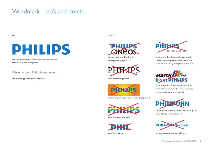 Wordmark – do's and don'ts   Do                                                 Don't                                     ...