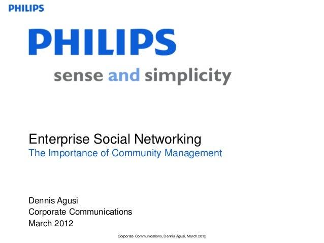 Corporate Communications, Dennis Agusi, March 2012 Dennis Agusi Corporate Communications Enterprise Social Networking The ...