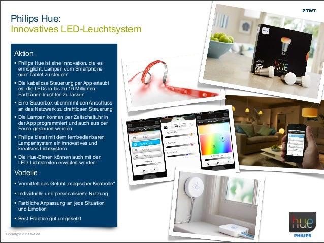 Philips Hue: Innovatives LED-Leuchtsystem Aktion  Philips Hue ist eine Innovation, die es ermöglicht, Lampen vom Smartpho...