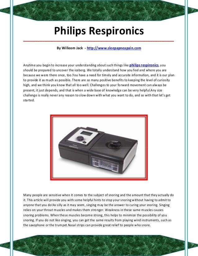Philips Respironics_____________________________________________________________________________________                  ...