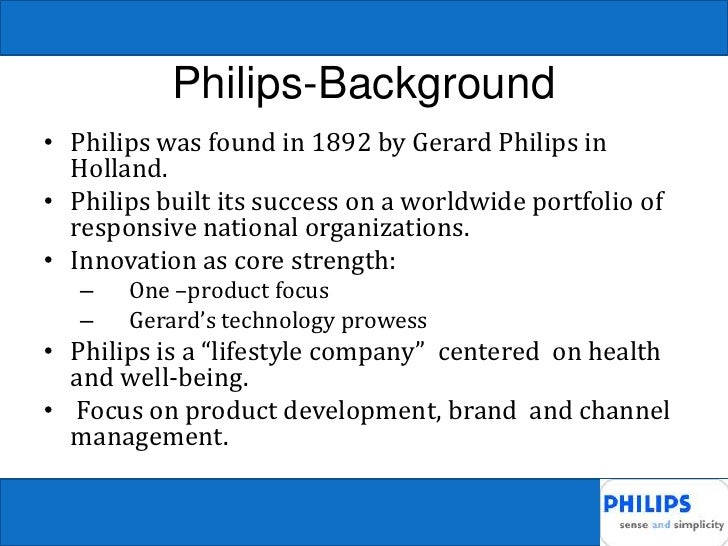 philips versus matsushita Describes the development of the global strategies and organizations of two major competitors in the consumer electronics industry over four decades, both companies adapt their strategic intent and.