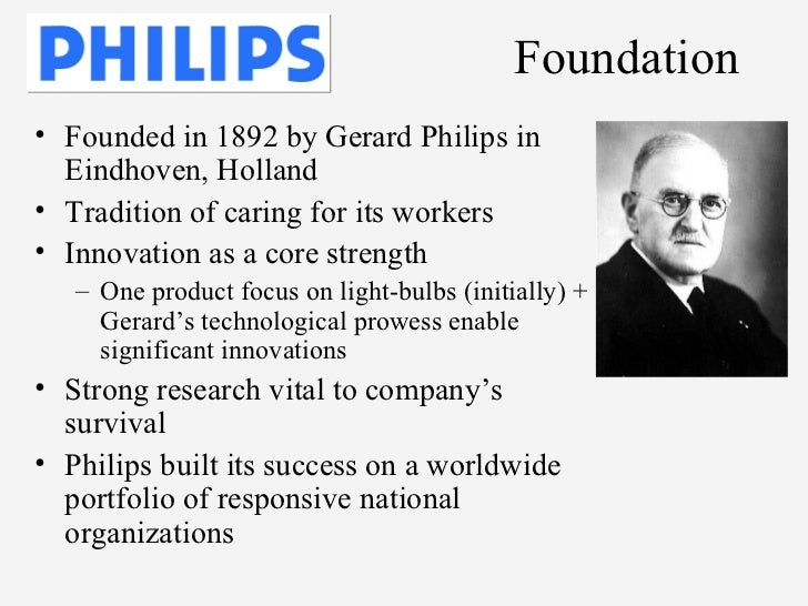 philips versus matsushita Philips versus matsushita: a new century, a new round 2 1 introduction 2 2 philips historical development 2 3 philips tries for reorganization 4 4 the historical development of matsushita 6 5 matsushitas tries for internationalization 7 6 the future together 9 1 introduction nv philips.
