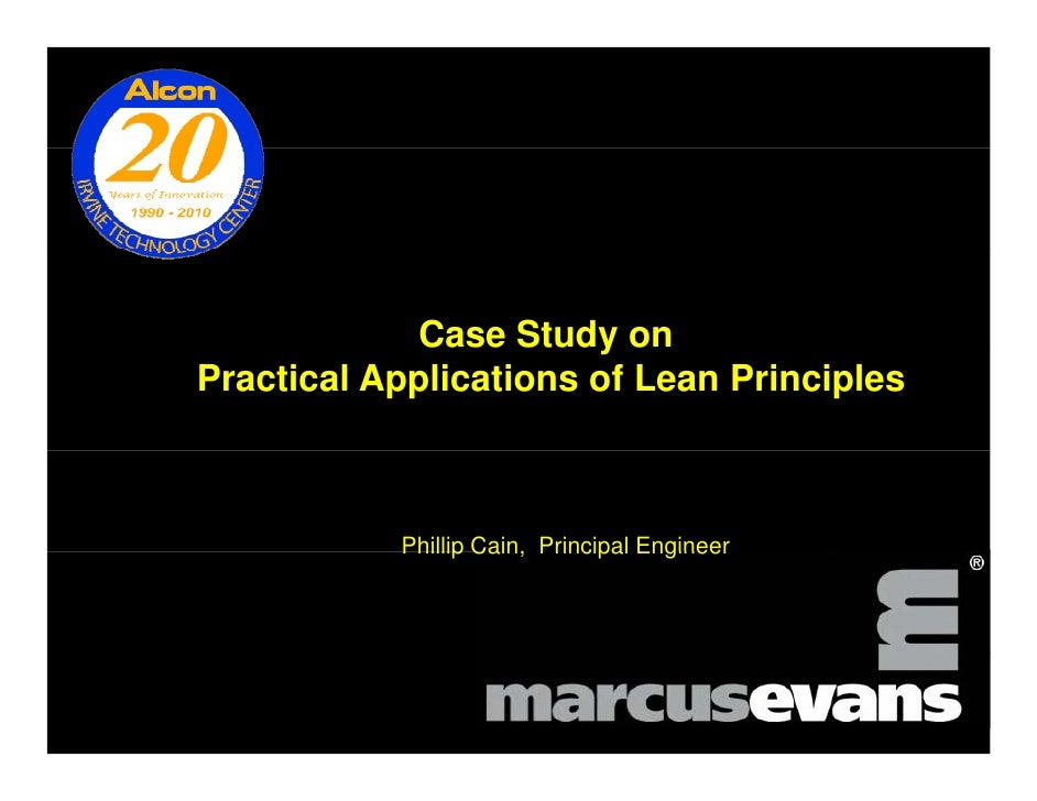 lean it case studies This case study follows a dmaic project to this article displays two case studies that illustrate that there is no set with the help of a lean six.