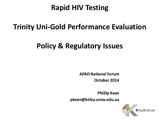 Rapid HIV Testing: Policy & Regulatory Issues