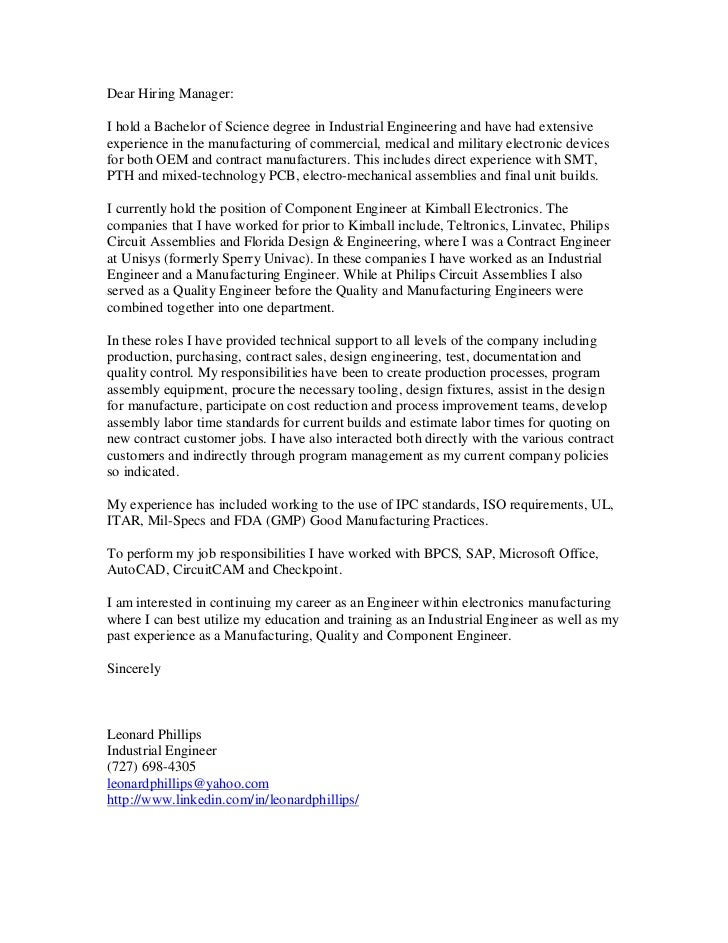 Phillips leonard cover letter for Cover letter for summer internship in computer science