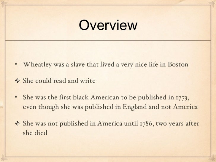 Poems By Phillis Wheatley 5