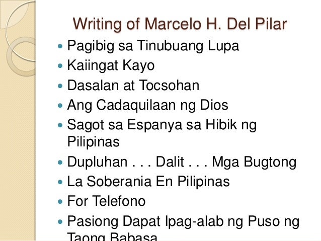 marcelo del pilar The man considered by many as the father of philippine journalism—the lawyer  marcelo h del pilar all the while, i had thought that del pilar's.