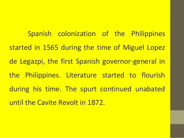 spanish period reaction paper Here is a little bit about the spanish reign over the philippines and some  it is  no surprise that over this long period of time, the spanish.