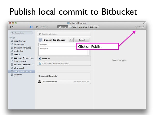 Using the GitHub App to Connect to Bitbucket
