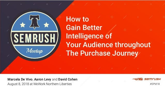 How to Gain Better Intelligence of Your Audience throughout The Purchase Journey Marcela De Vivo, Aaron Levy and David Coh...