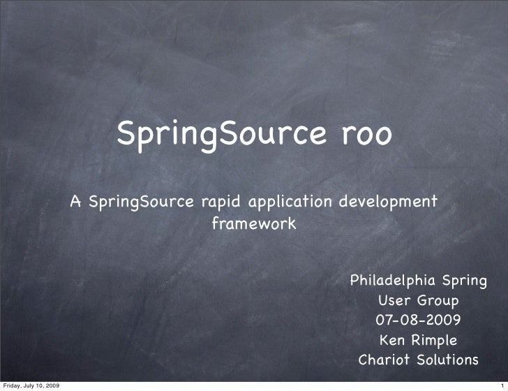 SpringSource roo                         A SpringSource rapid application development                                     ...