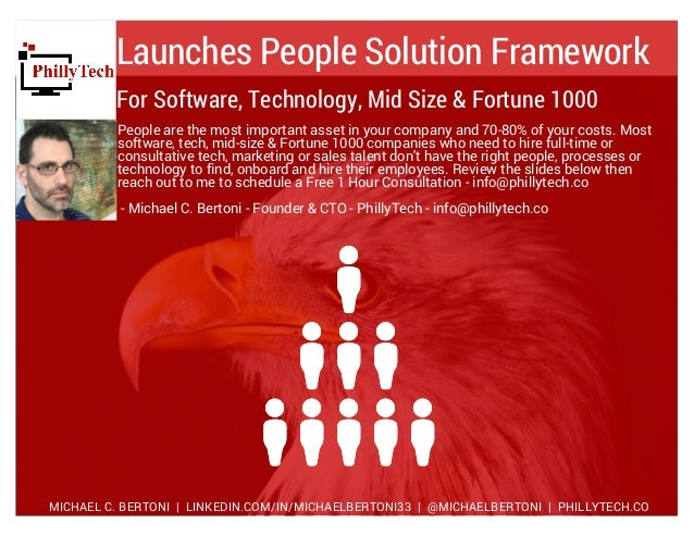 Launches People Solution Framework People are the most important asset in your company and 70-80% of your costs. Most soft...