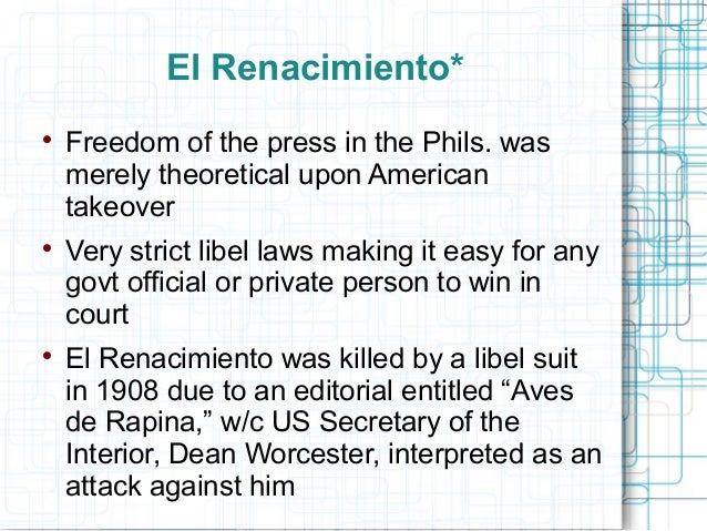 the history of philippine media essay While it is true that spain subjugated the philippines for more mundane reasons,  this  secular works appeared alongside historical and economic changes, the   other filipino writers published the essay and short fiction in spanish in la.