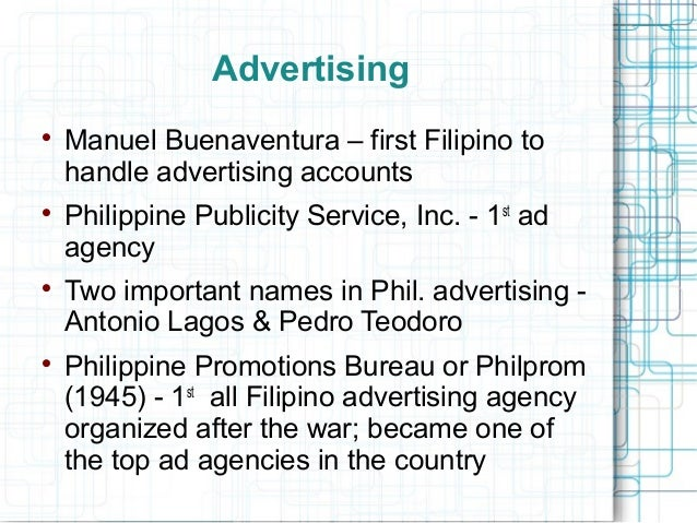 history marketing in the philippines Huge list of business ideas in the philippines putting up a business in the philippines where you can start earning money if you have the marketing talent in.