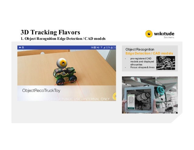 3D Tracking Flavors 1. Object Recognition Edge Detection / CAD models Object Recognition Edge Detection / CAD models - pre...