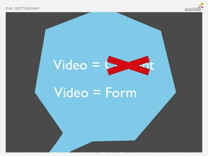 PHIL NOTTINGHAM                  Video = Content                  Video = Form