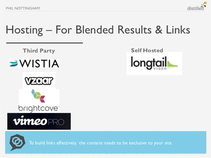 PHIL NOTTINGHAMHosting – For Blended Results & Links       Third Party                                             Self Ho...