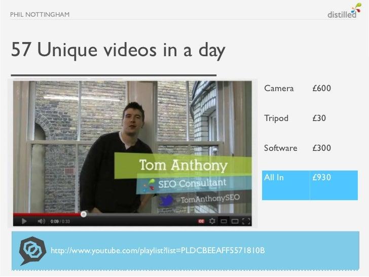 PHIL NOTTINGHAM57 Unique videos in a day                                                                Camera     £600   ...