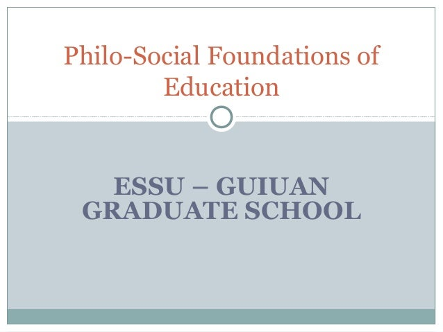 philo of educ Educ 2112 foundations of education 1 chapter 11: educational theory in american schools: philosophy in action  – progressivism & reconstructionism.