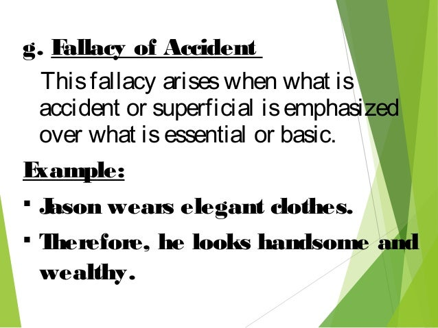 what are miscellaneous material fallacies