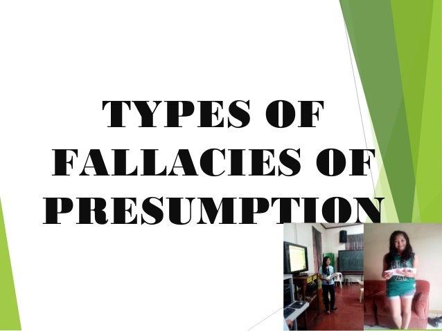 fallacies of presumption examples pdf