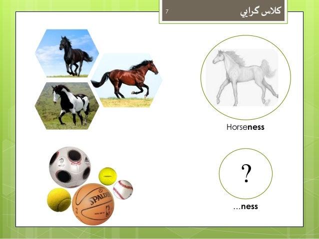 کلاس گرايي 7  Horseness  ?  …ness