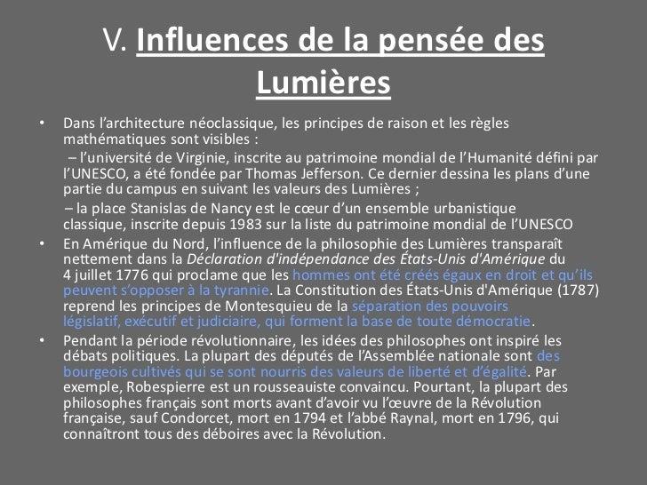 V. Influences de la pensée des Lumières<br />Dans l'architecture néoclassique, les principes de raison et les règles mathé...