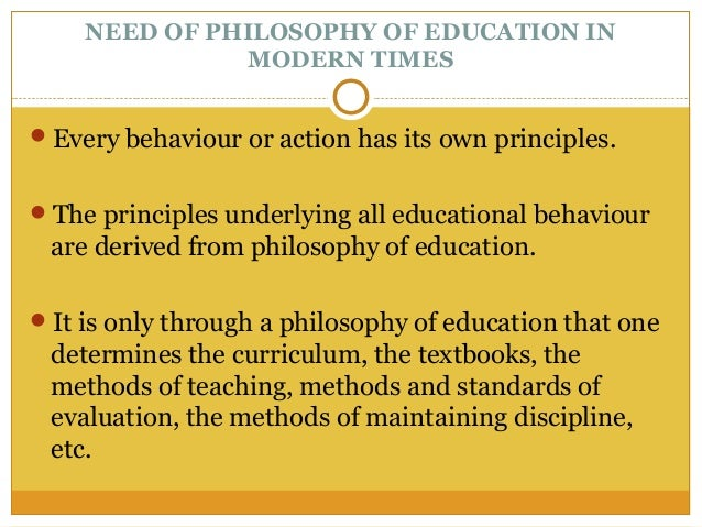 philosophical foundation of education Part of the social and philosophical foundations of education commons   keywords: philosophy of education, teacher education, institutional  organizational.