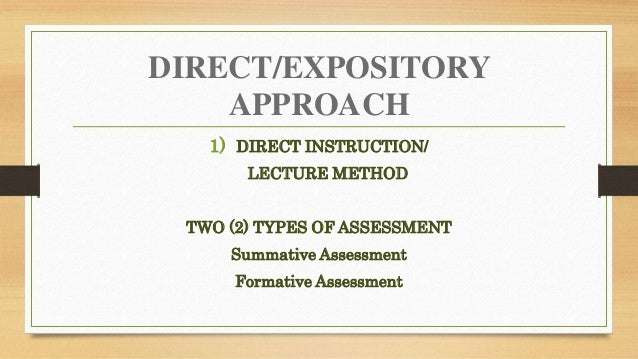 Lesson planning on direct approach