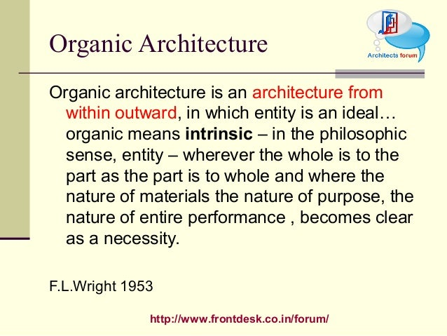 Philosophies Of F L Wright