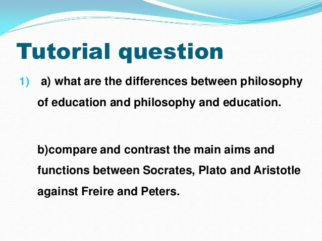 compare and contrast platos philosophy and