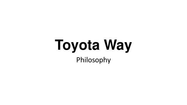 Toyota Way Philosophy