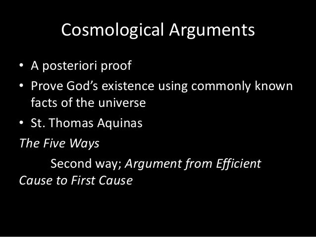 aquinass five ways to prove existence of god philosophy essay This post discusses the five proofs for god's existence of st thomas aquinas  these five arguments draw proof or evidence from man's.