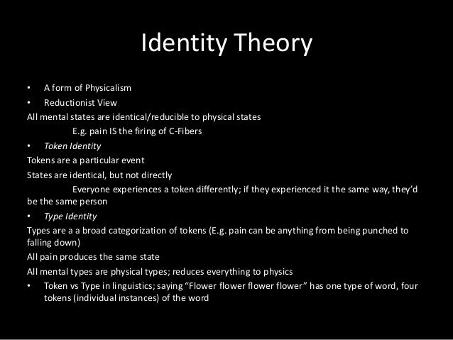 mind brain identity theory vs functionalism Functionalism, computationalism, and mental states  comparison of the plausibility of functionalism and type-identity  theory of mind and brain: a close look .