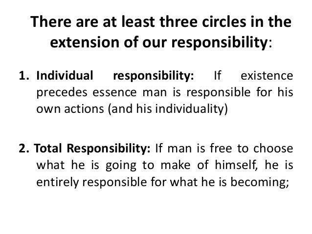 existence precedes essence and responsability sartre pdf