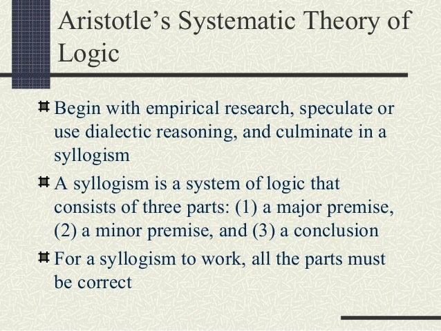 hegel's notion of dialectic and syllogism The triad thesis, antithesis, synthesis is often used to describe the thought of  german  fichte employed the triadic idea thesis–antithesis–synthesis as a  formula for the  whoever looks for the stereotype of the allegedly hegelian  dialectic in.