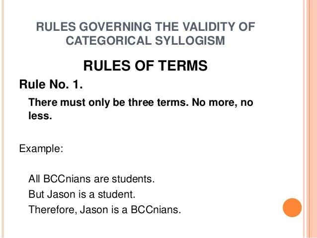 categorical syllogism