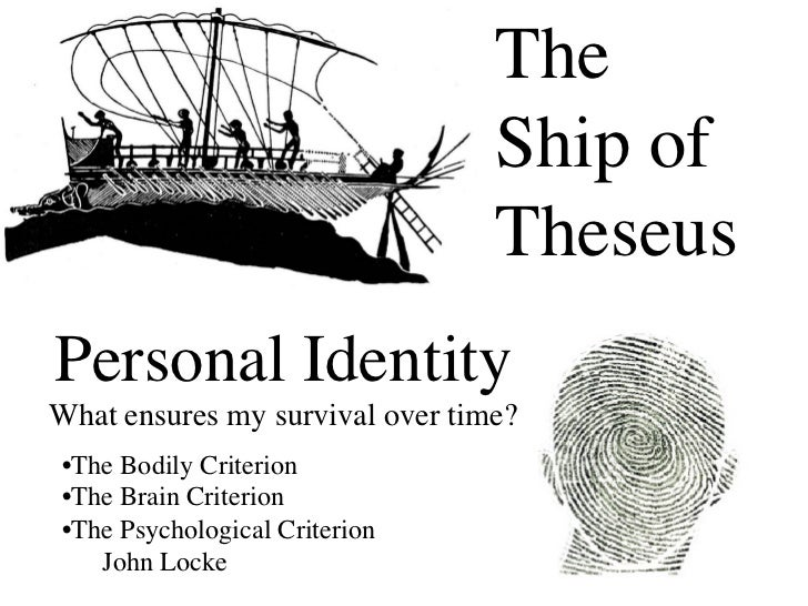 the bodily continuity criterion philosophy essay In philosophy, the matter of personal identity deals with such questions as, what  makes it true  book ii chapter xxvii entitled on identity and diversity in an  essay  neither is self-identity founded on the body substance, argues locke, as  the  intuition is that psychological continuity is the criterion for personal identity.