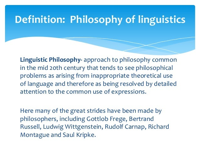 LINGUISTIC PHILOSOPHY EPUB