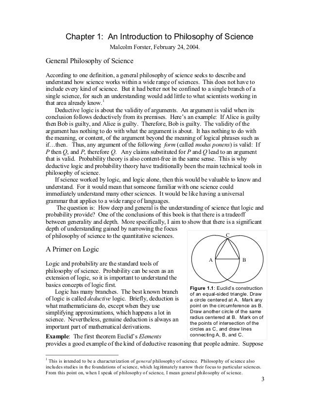 Chapter 1: An Introduction to Philosophy of Science Malcolm Forster, February 24, 2004.  General Philosophy of Science Acc...