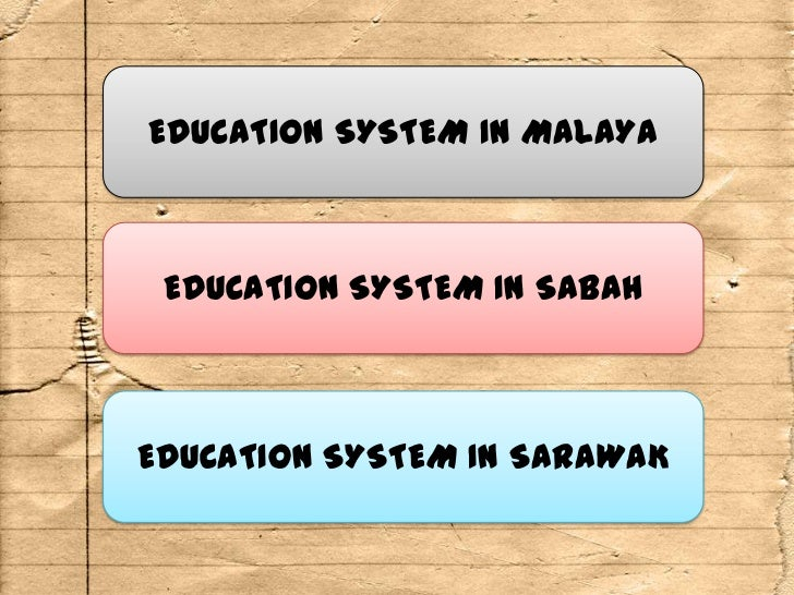The States Vocational Education Problem >> Development of Education System in Malaysia : Pre-Independence