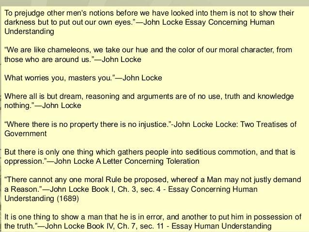 essay concerning human understanding john locke Essay concerning human understanding [john locke, maurice cranston] on amazoncom free shipping on qualifying offers.