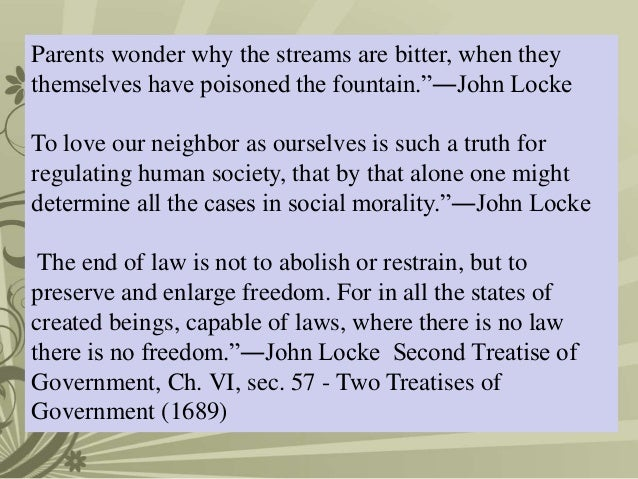 "mill and lockes conception of freedom essay John locke, john stuart mill, and jean-jacques rousseau all dealt with the issue of political freedom within a society john locke's ""the second treatise of."