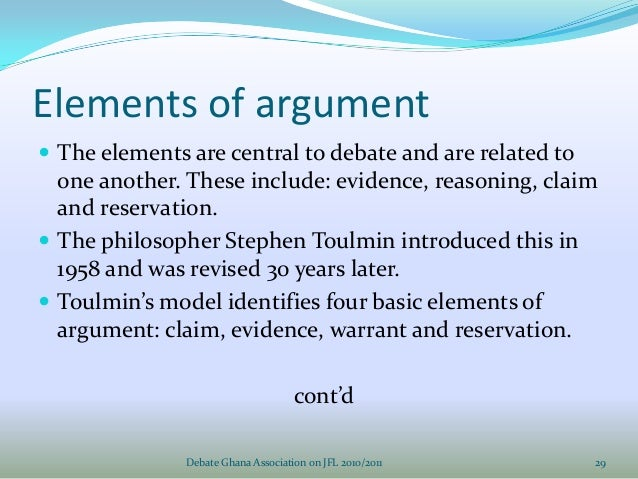 Philosophy of debating & argumentation